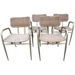 Set of Four Wicker Chairs by Troy Sunshade