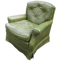 Baker Leather Armchair, 1970s
