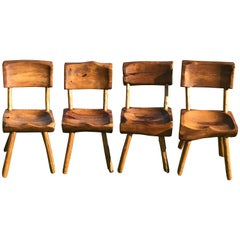 Four Adirondack Carved Chairs