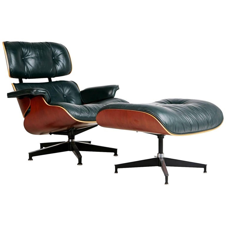 Charles and Ray Eames Lounge Chair and Ottoman Model 670 and 671 for ...