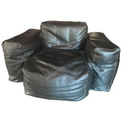 "Jasper Morrison Cappellini ""Superoblong"" Leather Bean Bag Lounge Chair"