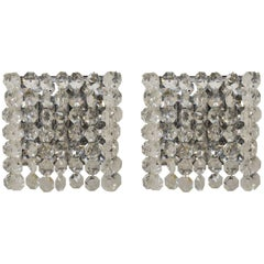 Pair of Hollywood Regency Crystal Sconces by Bakalowitz and Sohne