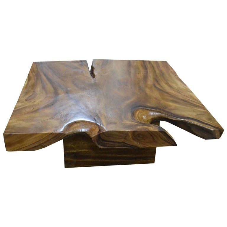 Andrianna Shamaris Organic Suar Wood Coffee Table