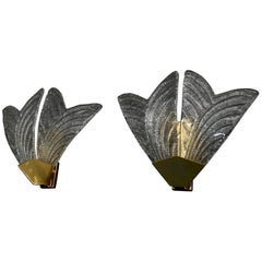 Beautiful and Elegant Pair of Murano Sconces
