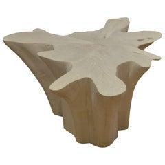 Andrianna Shamaris Amorphous Bleached Teak Wood Coffee or Side Table