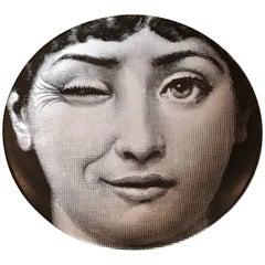 """Vintage Piero Fornasetti Plate Lina Cavalieri, #130 """"Tema & Variazioni"""""""
