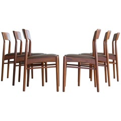 Kai Kristiansen Set of Six Dining Chairs in Teak for K.S. Mobler Denmark, 1960s