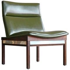 Arthur Umanoff Walnut and Aluminum Lounge Chair for Madison Furniture, 1950s