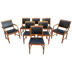 Bertil Fridhagen Teak Dining Chairs, Set of Eight