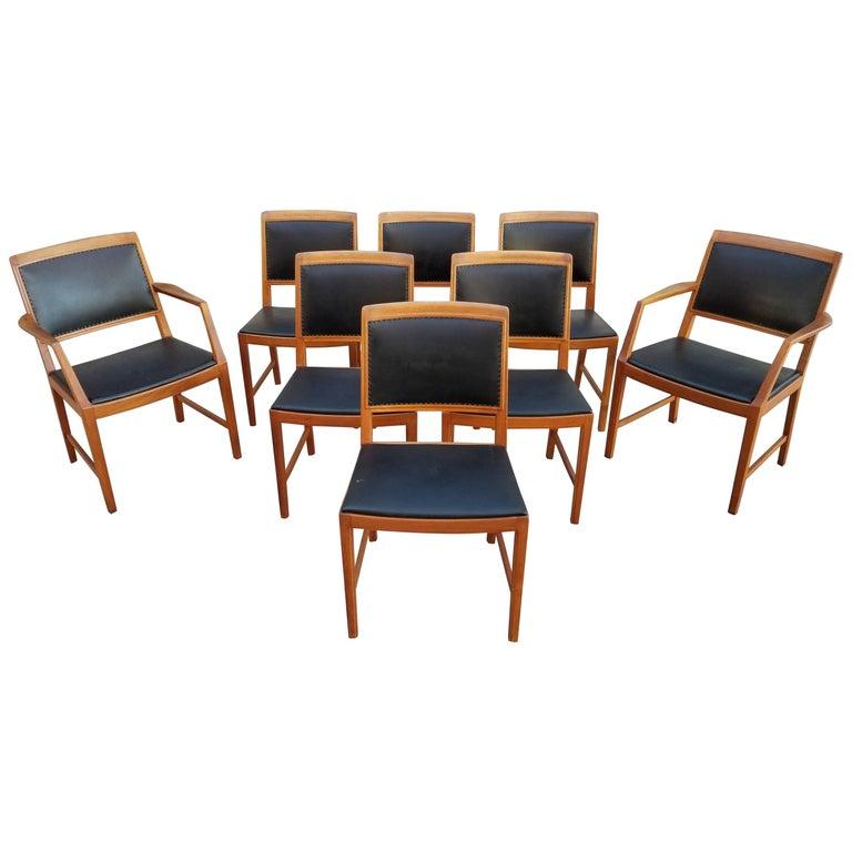 Bertil Fridhagen Teak Dining Chairs, Set of Eight