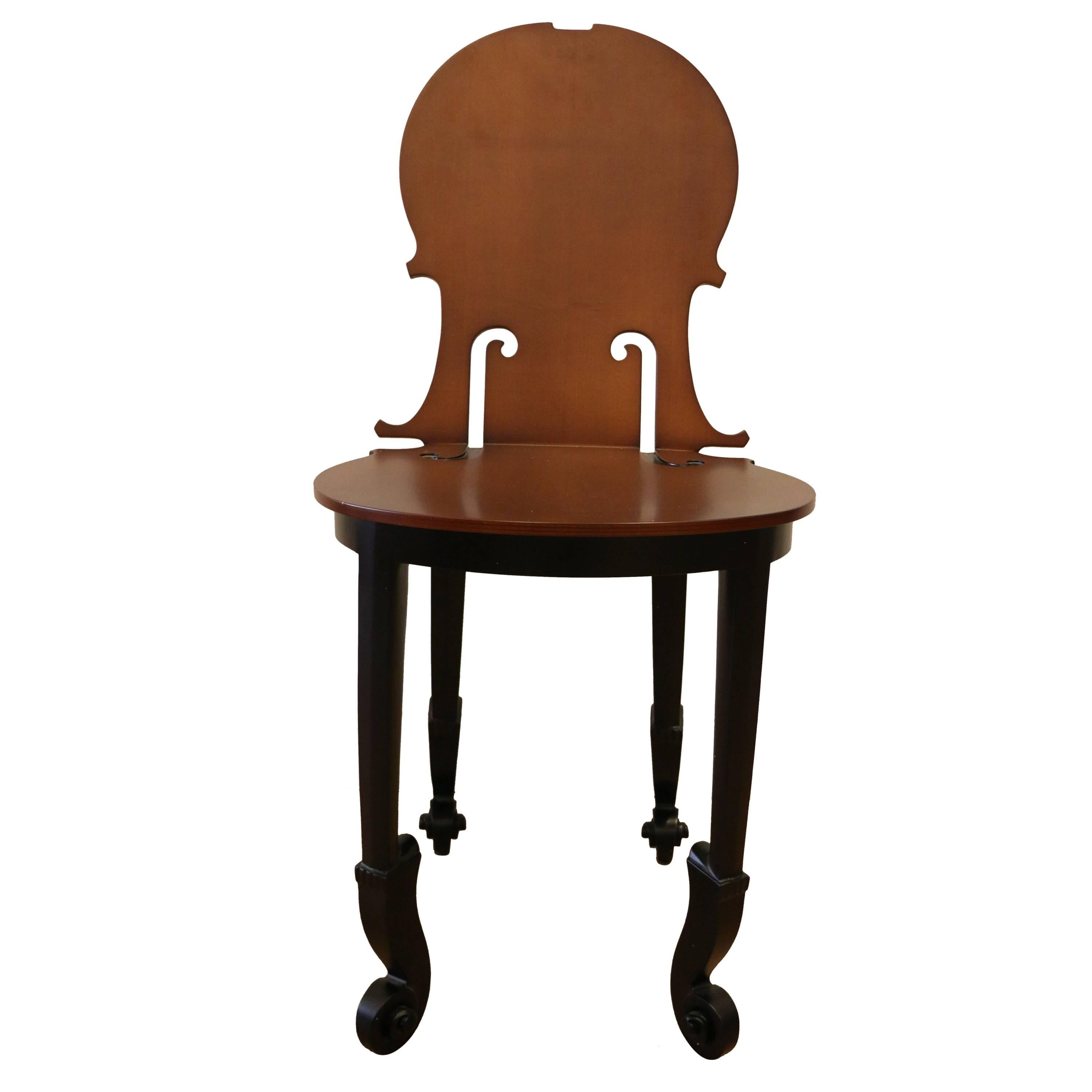 Superbe Cello Chair By Arman, Number 4/50, Wood, France For Sale