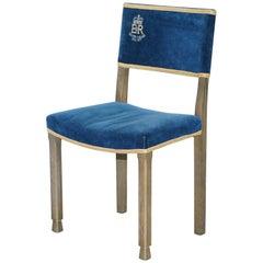 Silver Jubilee Queen Elizabeth II Coronation  Limed Oak Peers Chair, 1952 - 1977
