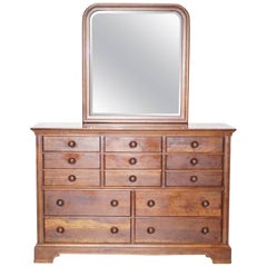 Stanley Furniture Bank Chest of Drawers with Mirror