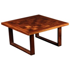 Scandinavian Modern Square Rosewood Coffee or Cocktail Table by Poul Cadovius