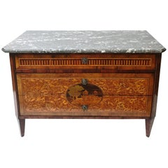 18th Century Italian Oyster Veneered Commode in the Manner of Maggiolini