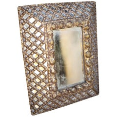 Very Rare 18th-19th Century Spanish Colonial Mosaic Mirror