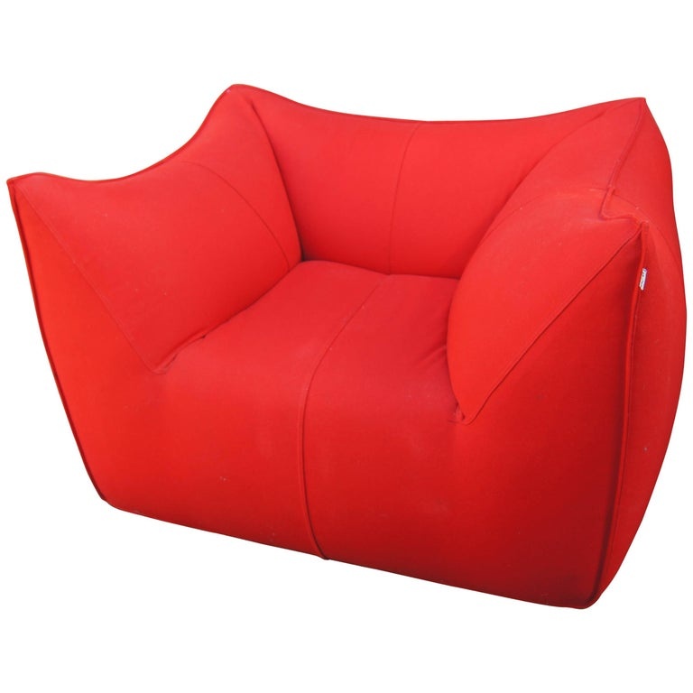 Red Bambola Lounge Chair by Mario Bellini for B&B Italia