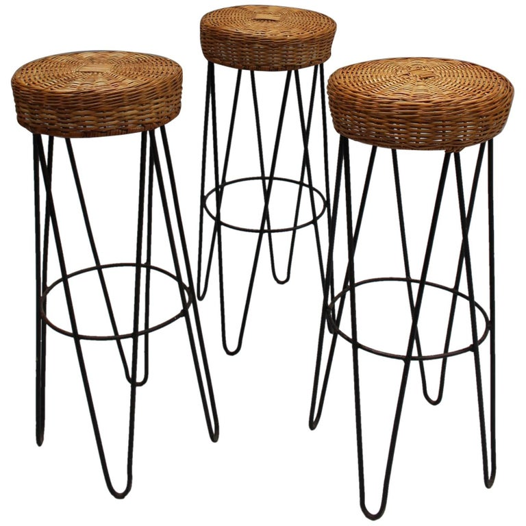 Zebra Wood Bar Stools