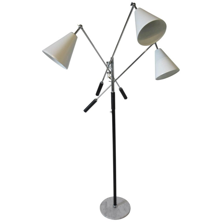 Italian Triennale Floor Lamp in the style of Angelo Lelli For Sale
