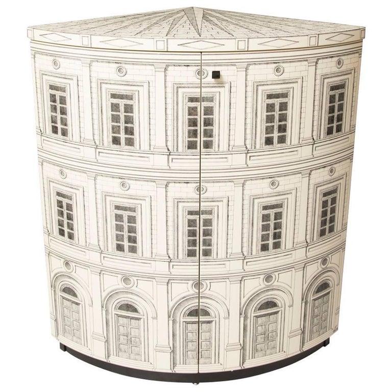 Fornasetti Corner Cabinet Architettura For Sale