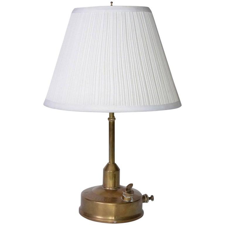 Antique Swedish Metal Lamp 1