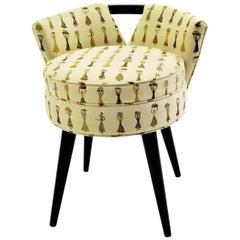 Paul Frankl 1940s Modern Swivel Stool for Johnson Furniture