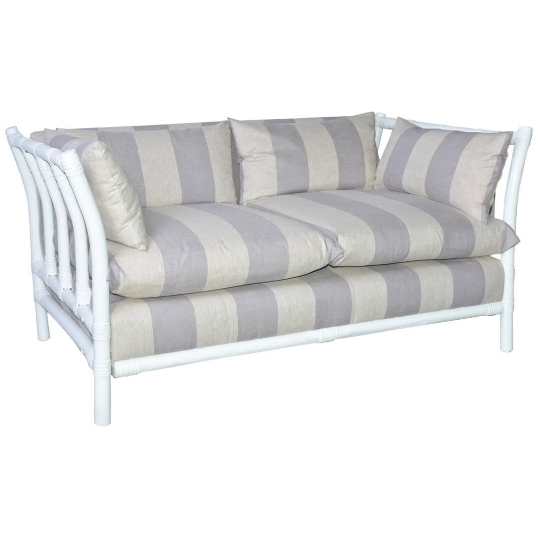 Midcentury Porch or Sun Room Upholstered Loveseat