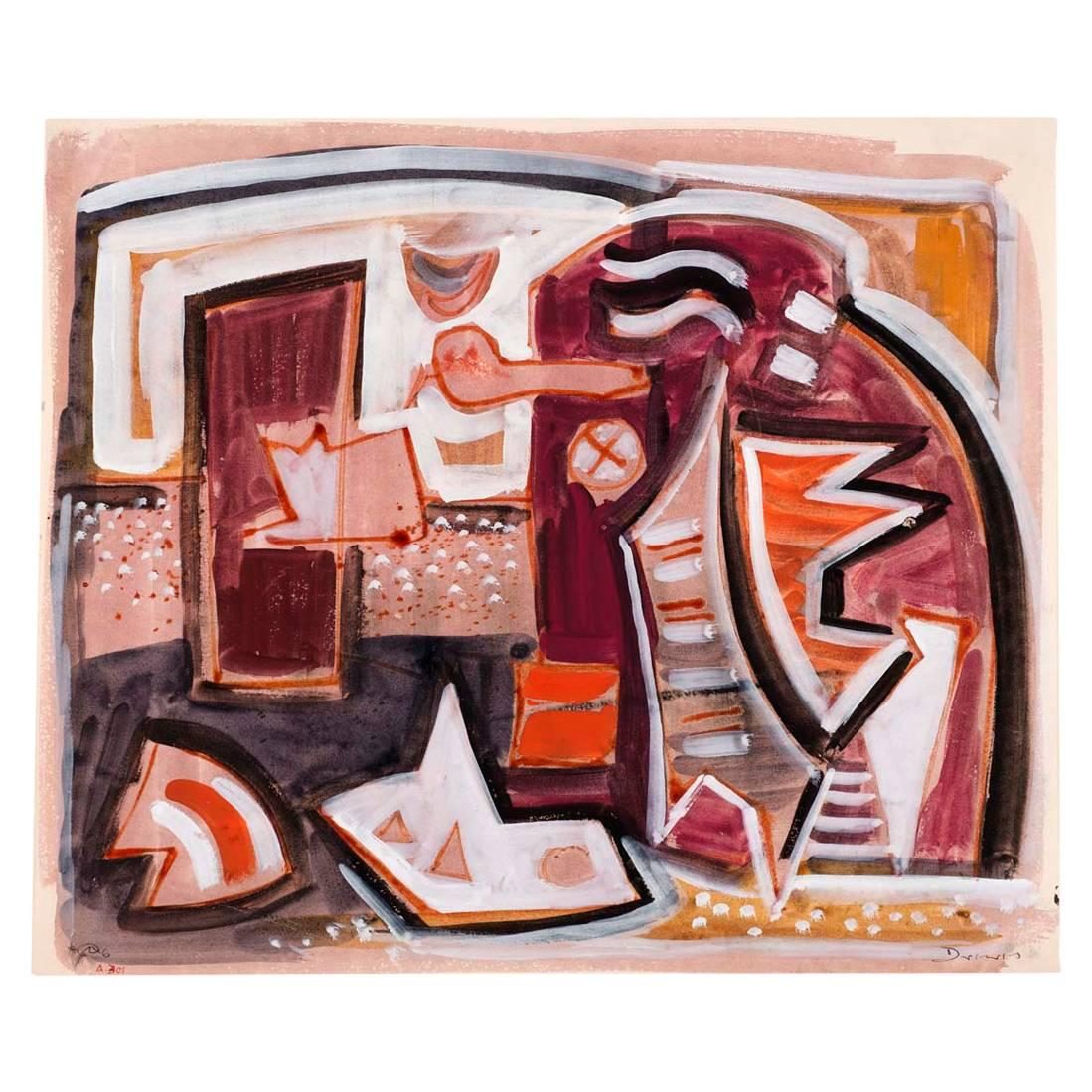"""""""Composition A301"""" by Werner Drewes, 1946"""