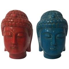 Midcentury Bakelite Buddha Heads