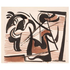 """Study of Ancient Warrior #108 A165A"" by Werner Drewes, 1945"