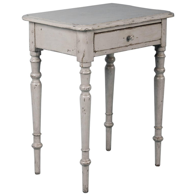 antique grey end table small antique country side table painted gray for 4092