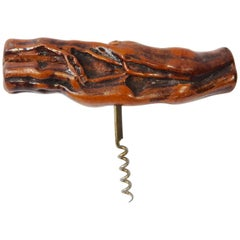 French Burl Wood Cork Screw Laurent Siret, France