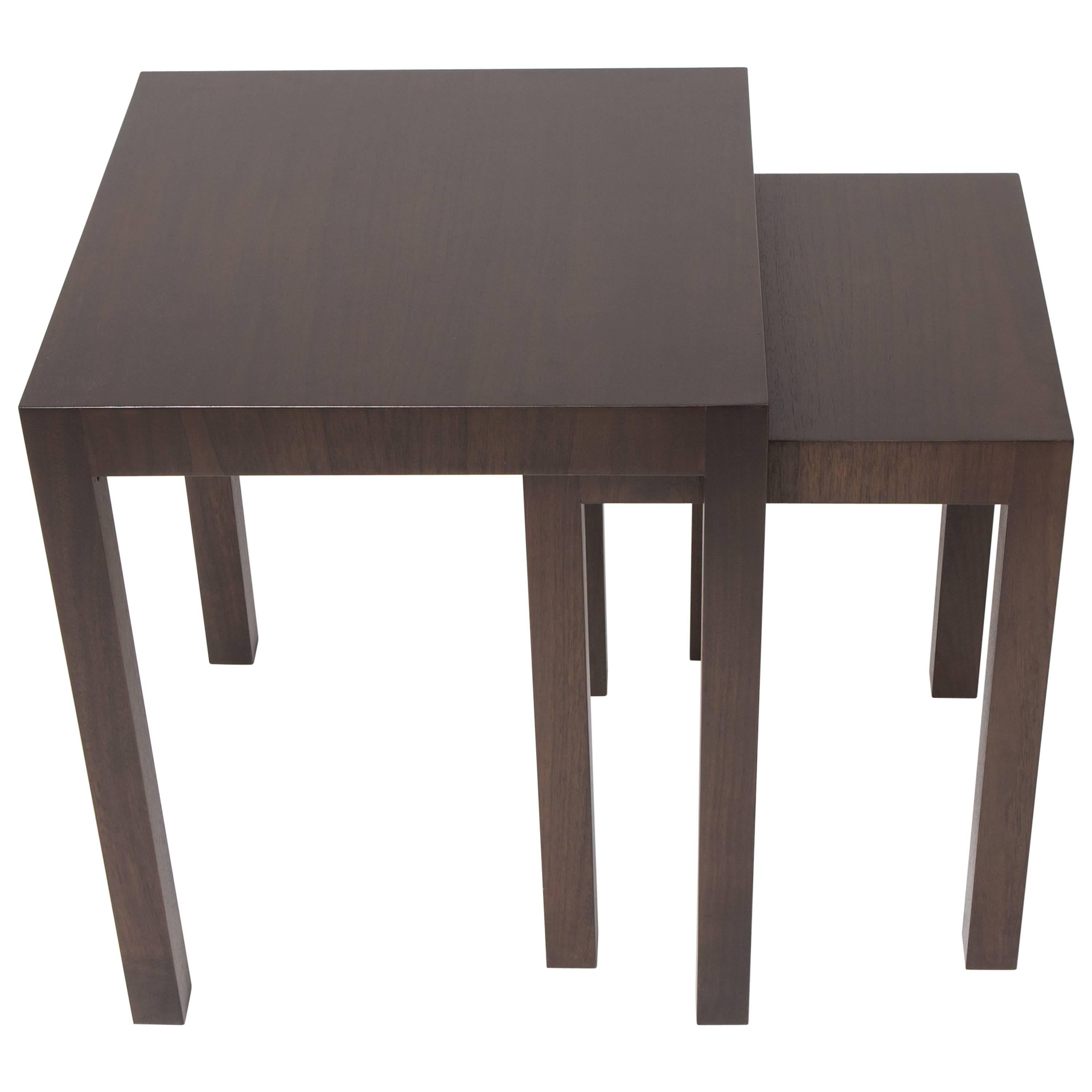 Marvelous ReGeneration Furniture Inc. Two Bespoke Walnut Nesting Tables With Third  Non Nesting Table
