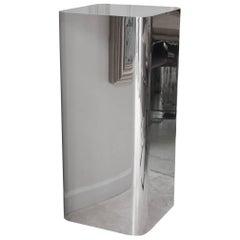 Brueton Stainless Steel Monumental & Rare Art/ Sculpture Pedestal/ FINAL SALE