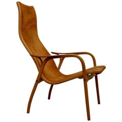 Lamino Chair in Suede by Yngve Ekström for Swedese, 1964