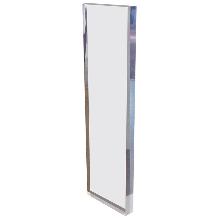 Massive Tall Sculpture Solid Block of Lucite in Purple Tint