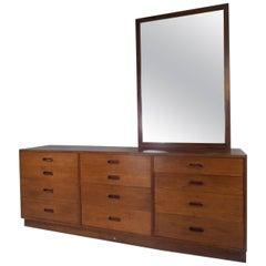 Mid-Century Modern Teak 12-Drawer Dresser