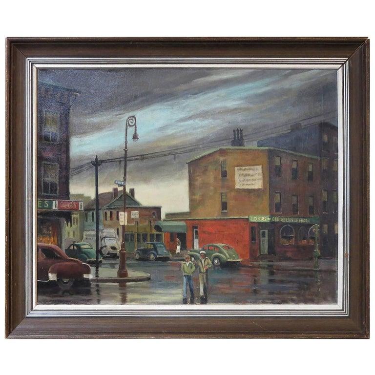 """Evening Clearing"" Original Oil Painting by Elmer P. Schwab, 1953 1"