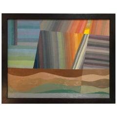 Constructivist Oil Painting by David Segel
