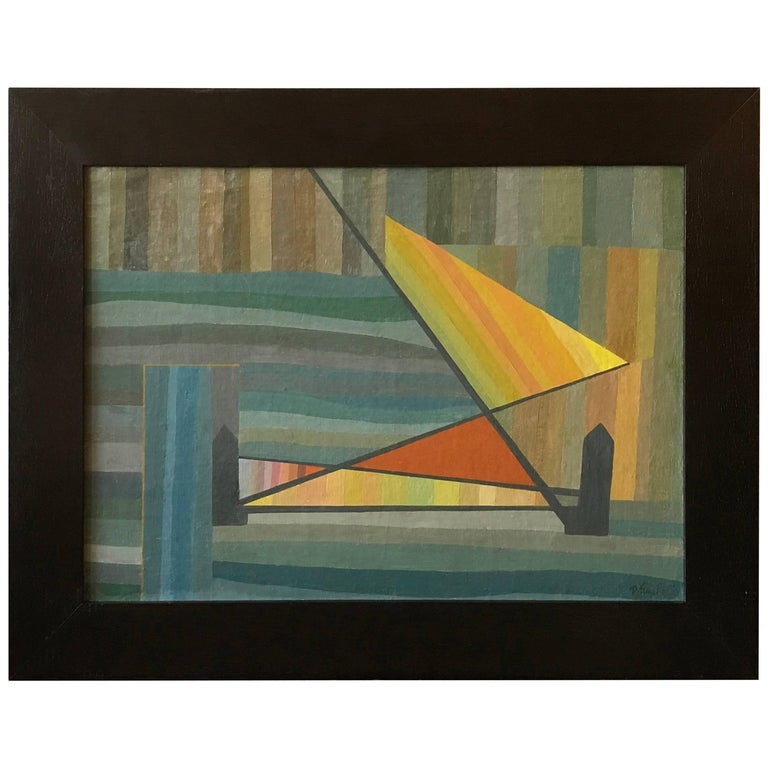Constructivist Oil Painting by David Segel For Sale