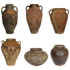 Early 19th/20th c. Antique Clay Jar Collection, c. 1810-1910