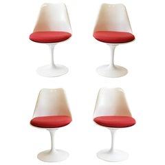 Four Saarinen Tulip Armless Chairs by Knoll