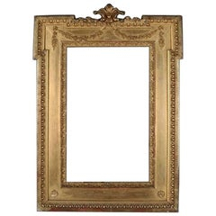 Antique French Empire Giltwood Frame, 19th Century