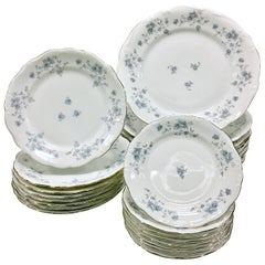 "Vintage Johann Haviland ""Blue Garland"" Porcelain Dinnerware S/24"