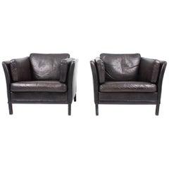 Pair of Danish Lounge Chairs, 1970s
