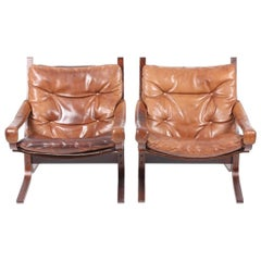 Pristine Pair of Lounge Chairs by Ingmar Relling