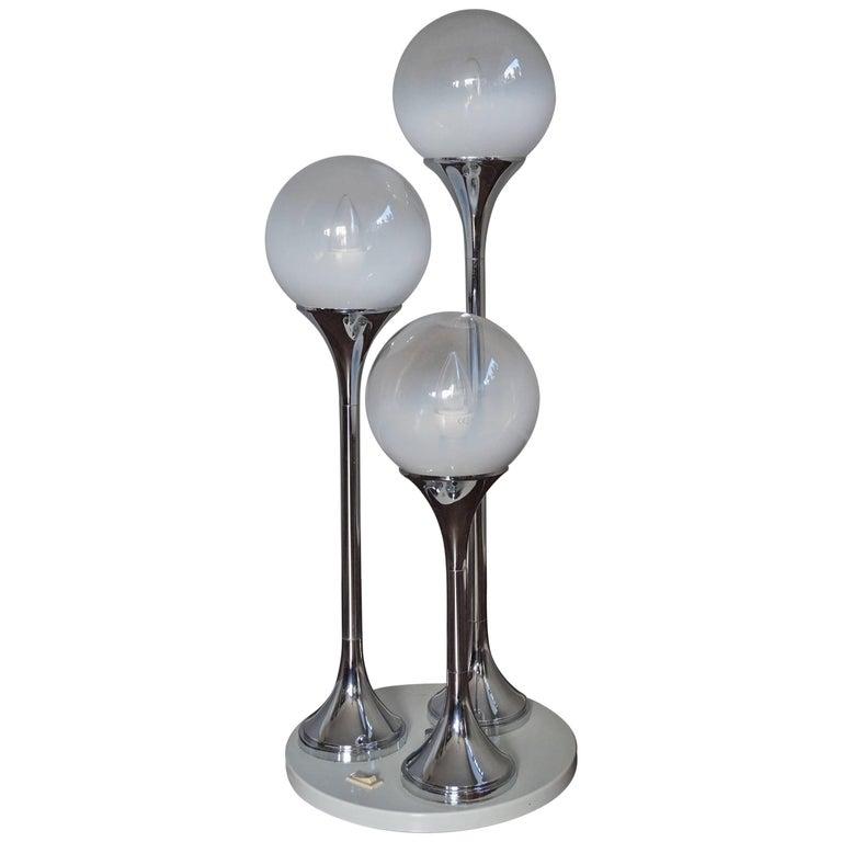 Mid-Century Modern Italian Design Targetti Sankey Table and Floor Lamp