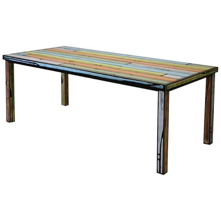 Established and Sons Wrongwoods Table in Three Colorway Options