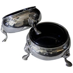 Pair of Victorian Sterling Silver Salt Cellars