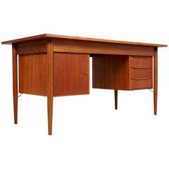 Scandinavian Teak Desk by Gunnar Nielsen Tibergaard, Denmark, 1960s